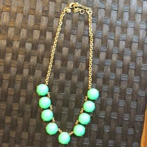 J Crew Statement Necklace Mint
